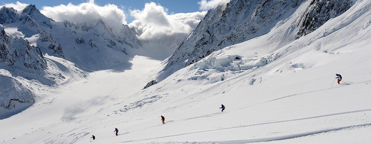 Ski touring in Chamonix Valley