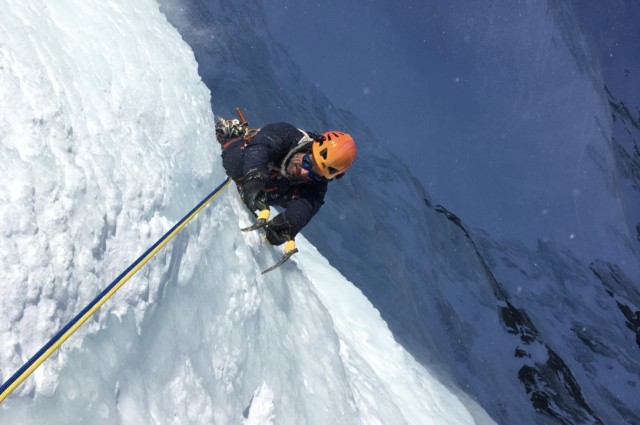 Ice Climbing (photo credit Michel Fauquet)